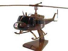 Bell UH-1 Huey Dustoff Medevac Vietnam Era Helicopter Mahogany Wood Wooden Model