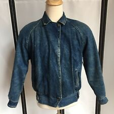 Vintage 80s Mens Medium Blue Denim Jacket Iconic 80s Theater Costume