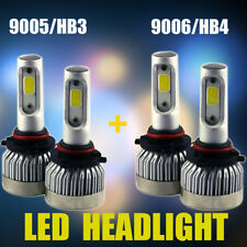 2Pair 9005 HB3+9006 HB4 Combo Total 1800W 270000LM LED Headlight Kit Bulbs 6500K