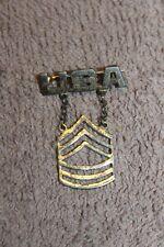 """Original WW1 U.S. Army Infantry Staff Sgt. """"USA"""" Sweat Heart Device, """"Sterling"""""""