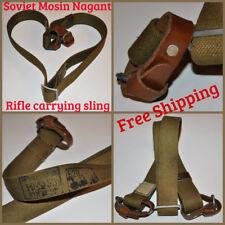 USSR 91/30 Mosin Nagant Rifle Carrying Sling Belt Canvas Leather Unissued OTK