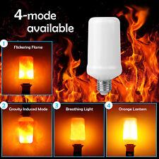 4 Mode E27 99LED Burn Light Flicker Flame Lamp Bulb Fire Effect Christmas Decor