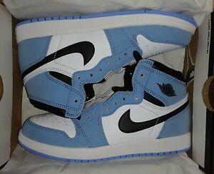 Jordan 1 Retro High OG (PS) White/Black-University Blue AQ2664-134 Size 2Y
