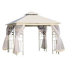Outsunny Tonnelle Barnum Style Colonial Double toit Moustiquaires