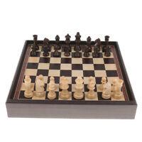 Échiquier de Chessboard 3 en 1 en bois d'échecs internationaux réglés de