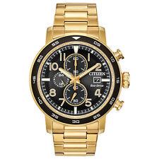 Citizen Eco-Drive Men's Brycen Chronograph Date Gold-Tone 43mm Watch CA0642-56E