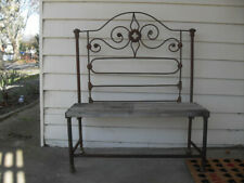 GARDEN BENCH SEAT--RUSTIC--RECYCLED MATERIALS---WIDTH 900++++