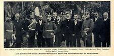 Zum Kaiserbesuch in Tanger Mitglieder der deutschen Kolonie Dr.von Kühlmann 1905
