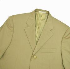 Corneliani All Season Worsted Wool Jacket 38R Small Beige Tan Khaki Blazer Italy
