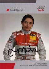 Vanina Ickx Signed Promo Card.2006 Audi DTM.