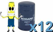 Premium Oil Filter Ecogard X4011 Replaces Fram PH3980 PG4011 L24011 Case of 12