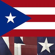 Puerto Rico 3' x 5' Ft 210D Nylon Premium Outdoor Embroidered Puerto Rican Flag