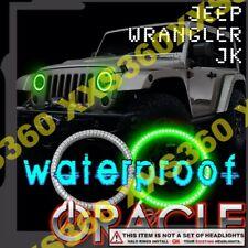 ORACLE for Jeep Wrangler JK 07-17 GREEN Surface LED Headlight Halos Waterproof