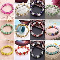 POP Colorful Charm Women Ladies Crystal Pearl Beads Stretch Bracelet Jewellery