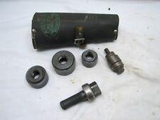 Vintage Greenlee Tool Knockout Punch Slugbuster Set 735 Orig Box Case Conduit