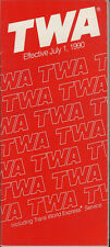 TWA system timetable 7/1/90 [308TW] Buy 2 Get 1 Free