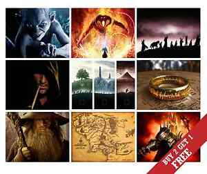 A3/A4 LORD OF THE RINGS Poster Options JRR Talkien HOME WALL DECOR LOTR Print