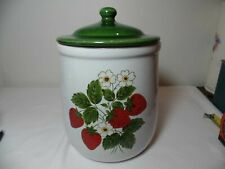 Vintage McCoy Crock  Canister # 135 Strawberry Country