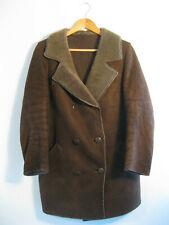MORLANDS | Women's Brown VINTAGE Real Sheepskin Sherpa Leather Coat Size 12 -14