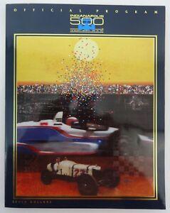 1993 Indianapolis 500 77th Running Program Emerson Fittipaldi Penske Camaro Z-28