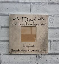Dad of all the walks bride gift photo frame personalised wedding shabby & chic