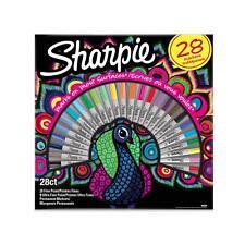 """28er Pack Sharpie Permanentmarker mit feiner & ultrafeiner Spitze ver. Fa """"Pfau"""""""