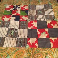 "Vintage Patchwork Table Topper Or Wall hanging Small 18.5x22.5"" Hand Quilted"