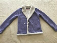 Free Country Youth Girls Knitted Plush No Button Jacket Purple 10/12 M Size