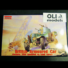 1/72 WWII British Rolls-Royce Armoured Car 1920 modified w/sand tires  Roden 734