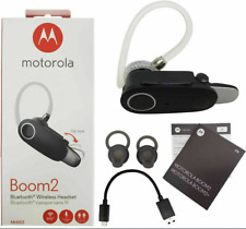 Motorola Boom 2 Wireless Bluetooth Headset Mh003 Dual-Mic Noise Cancellation