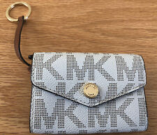 Michael Kors PVC  Jet Set Travel Card Case ID Key Holder Wallet Vanilla Brown