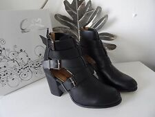 designer style buckle ankle boots uk size 4 brand cink me