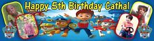 Large Paw Patrol Themed Birthday Banner Poster Personalised with Photos