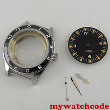 41mm corgeut Watch Case + black dial + hand set fit ETA 2824 2836 MOVEMENT