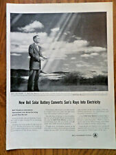 1954 Bell Telephone Ad New Solar Battery Converts Sun's Rays into Electricity