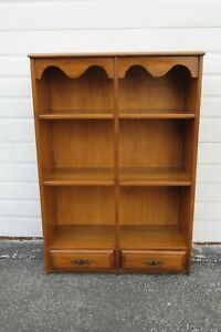 Solid Maple Bookcase Display Shelf Cabinet 1701