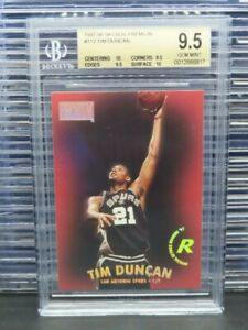 1997-98 Skybox Premium Tim Duncan Rookie Card RC #112 BGS 9.5 Spurs Q793