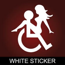 "4"" WHEELCHAIR SEX Honda Sticker Funny Disable Car Decal JDM Type R GTR Bumper VW"