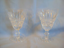 """VINTAGE WATERFORD CRYSTAL WINE GOBLETS SET OF TWO TRAMORE 5.75"""" SIGNED"""