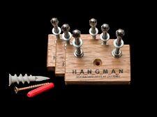 3 x Tasmanian Oak Hangman Skateboard Display Systems, Deck Wall Mount Hanger