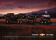 Chevy Tracker 1-page print ad 2000 Thinks Big - Transport Truck