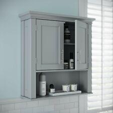 RiverRidge Somerset 2-Door Bathroom Storage Wall Cabinet, Gray