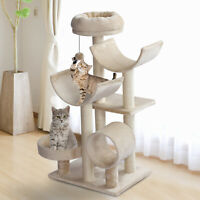Multi-Level Large Cat Tree Scratching Post Perch Play Center Tunnel Hanging Ball