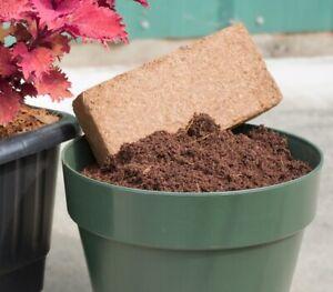 10 Litre 650g Organic COCO Bricks Coir Blocks Fibre Peat Free Compost For Plants