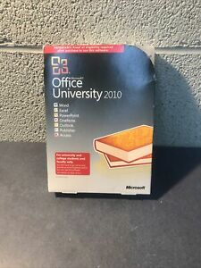 Microsoft Office University Software 2010 w/ pin and Product Key word excel