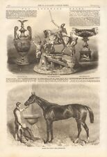 1861 ANTIQUE PRINT- THE GOODWOOD RACES, CUPS, WINNER OF GOODWOOD CUP