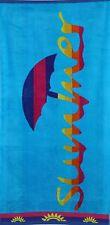 Betz Toalla de playa de terciopelo XXL 100% algodón 75x150 cm SUMMER turquesa