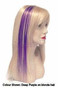 Coloured Flash Highlights clip in human hair extensions