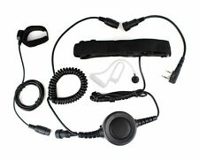 2Pin Earpiece PTT Throat/Forehead Vibration MIC Headset for KENWOOD Baofeng HYT