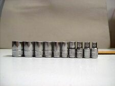 "Matco Tools Silver Eagle 1/4"" SAE 10 pc  6 Point Socket, 3/16"" - 9/16"" Tu"